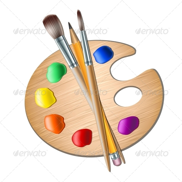 Paint clipart artistic Drawing Palette with for Paint