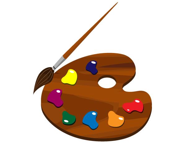 Color clipart artist palette Clipartix vector at 5 2