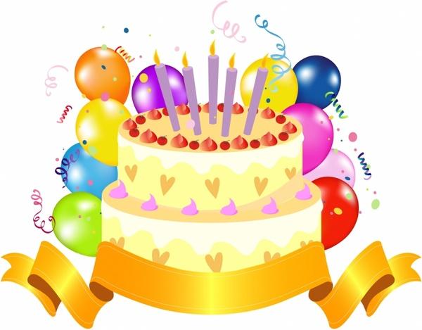 Yellow clipart birthday cake Misc Birthday Cake Cake Birthday