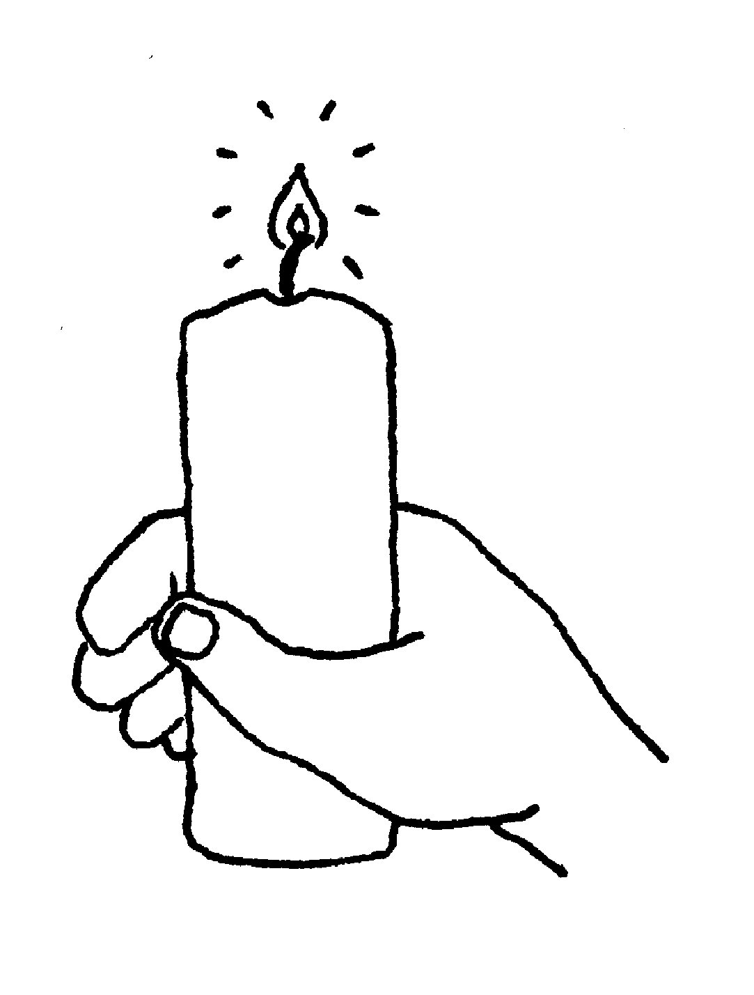 Black & White clipart candle Image Pictures Clip free Clipartix