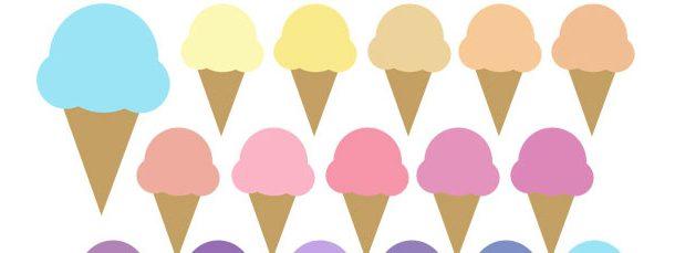 Cone clipart color pink  Cone Cream Collection Ice