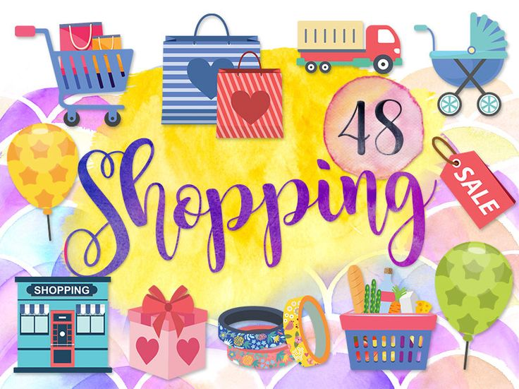 Cart clipart food shop Shopping Shopping Stroller Ballon on