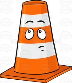 Misc clipart safety cone A Character Traffic Look Face