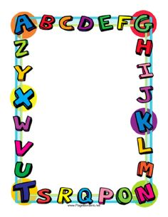 Display clipart school project Border School Alphabet PPT