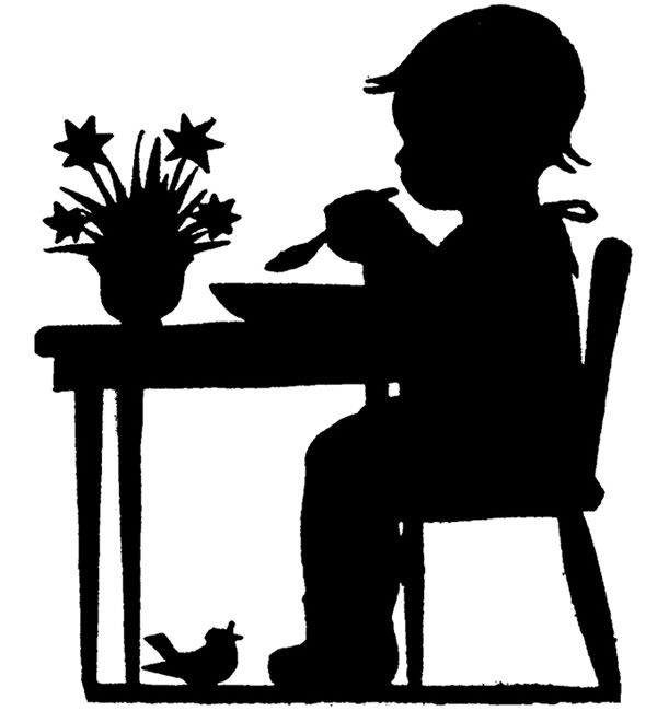 Shadow clipart excited kid #1