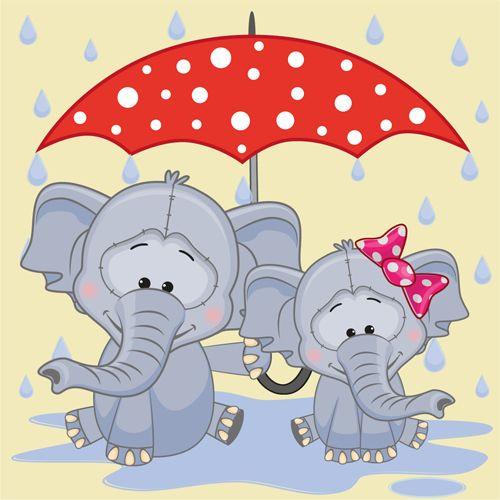 Umbrella clipart animal Cartoon Idea Animals Cartoon Cute