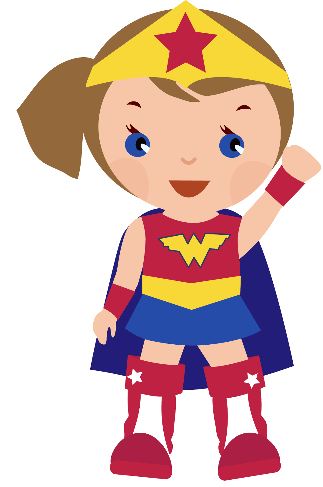 Woman clipart kid Cute Wonder kid woman clipart