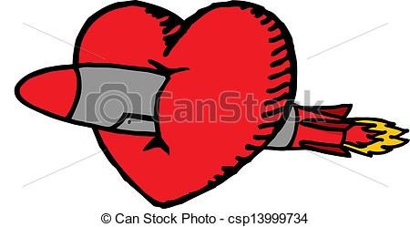 Missile clipart art  love love Vectors crossed