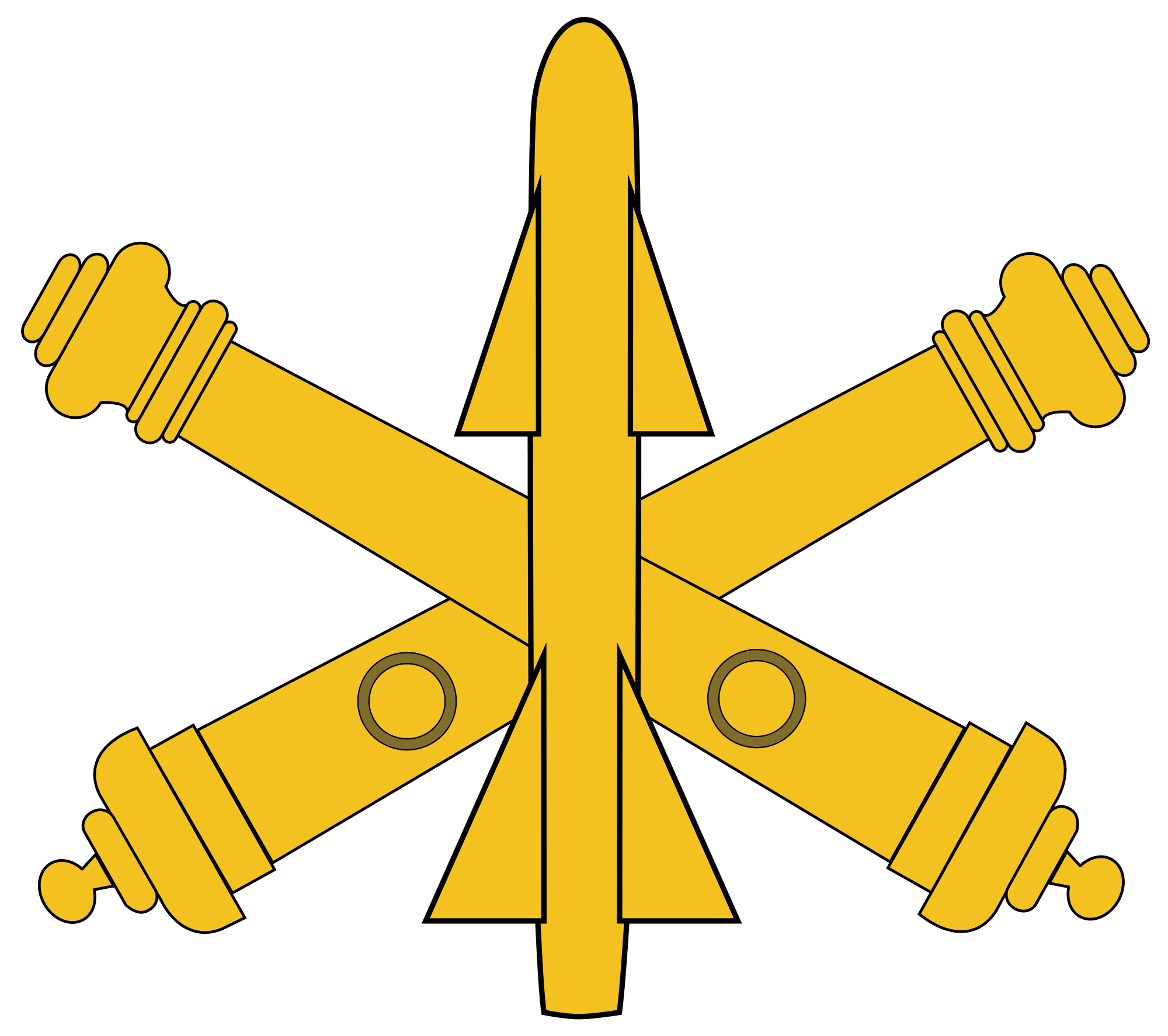 Missile clipart artillery Wikimedia Open Commons BRANCH File:USAADA
