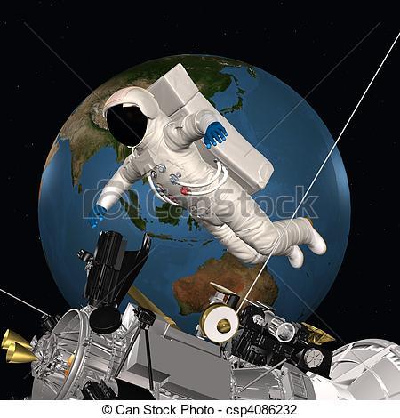 Missile clipart astronaut #8