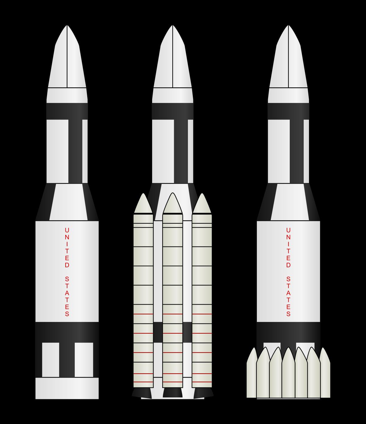 Missile clipart rocket booster  Saturn Wikipedia II