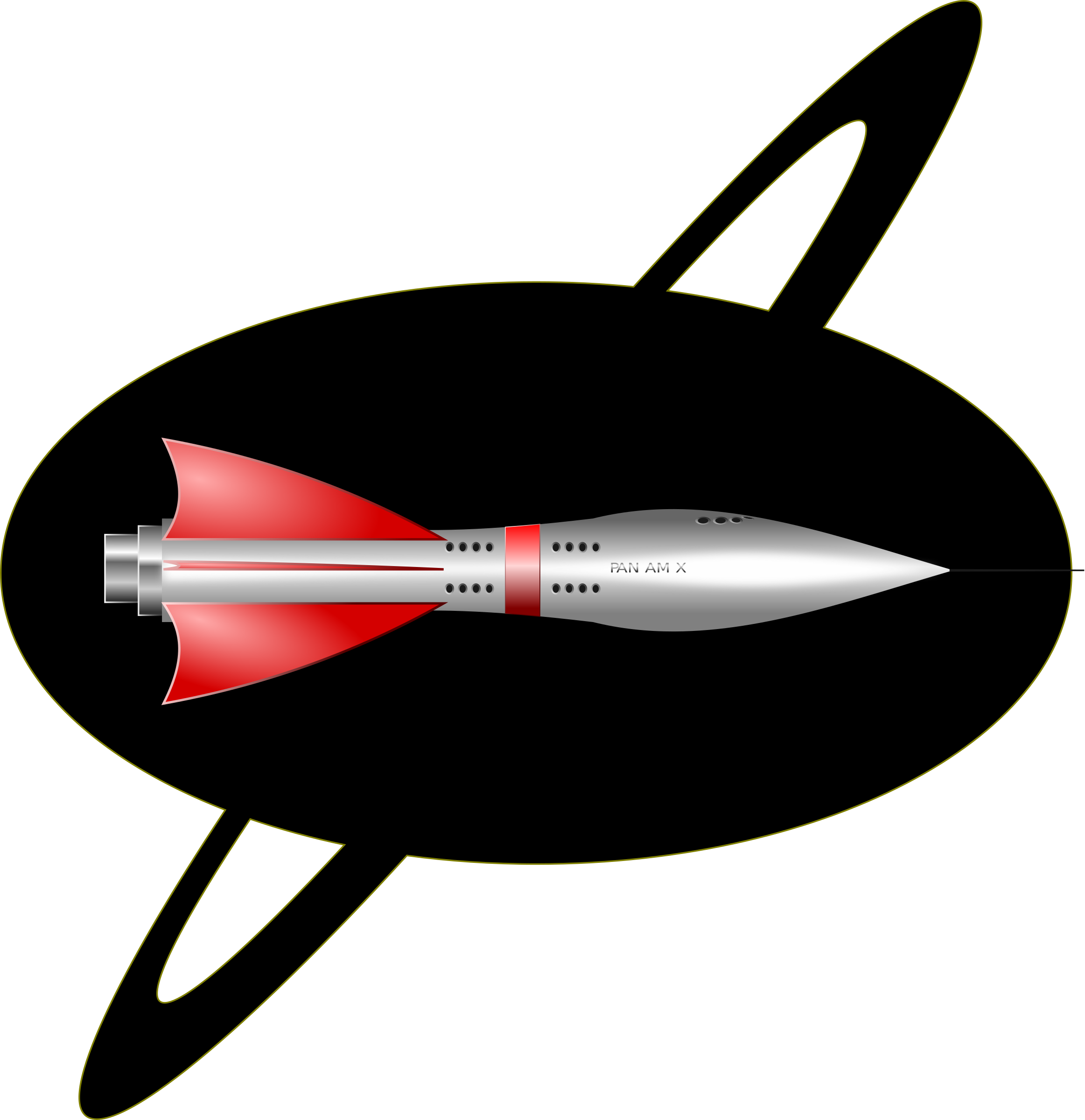 Missile clipart rocketship 1950's Clipart 1950's Rocket Ship