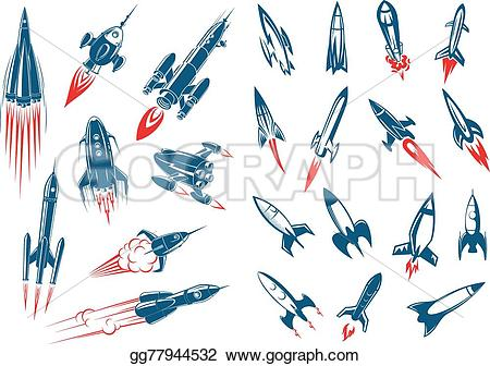 Missile clipart space rocket In style Outer missiles and