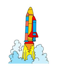 Missile clipart space shuttle launch #5