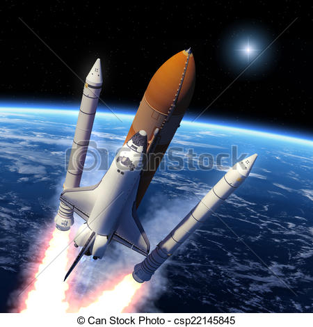 Missile clipart space shuttle launch #13
