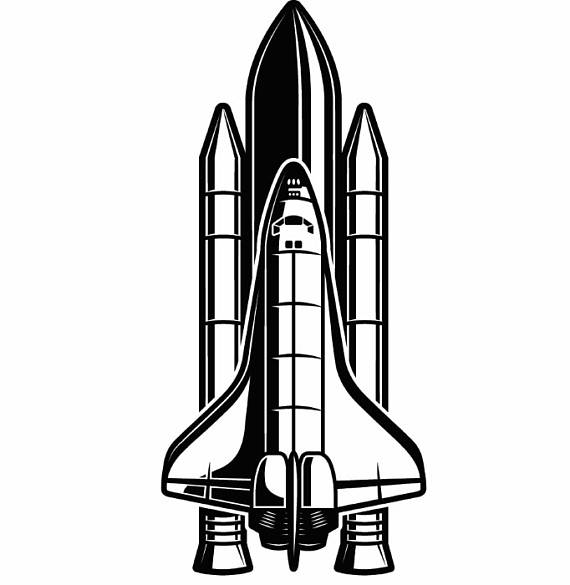 Missile clipart space shuttle launch #11