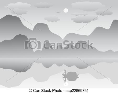 Mist clipart black and white #3