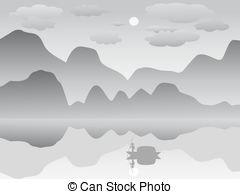 Mist clipart black and white #6