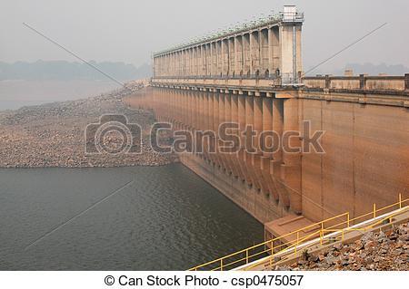 Mist clipart reservoir Dam in  wall csp0475057