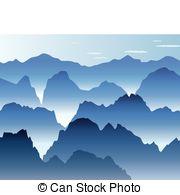 Mist clipart the mountain Vector blue Mist 811 illustration