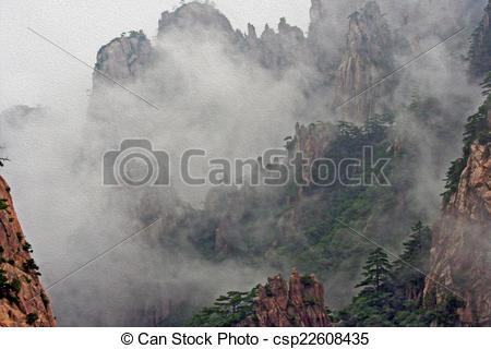 Mist clipart the mountain Paint Shan mist in stylization