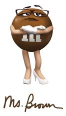 M&m clipart brown M on Ms Brown M's
