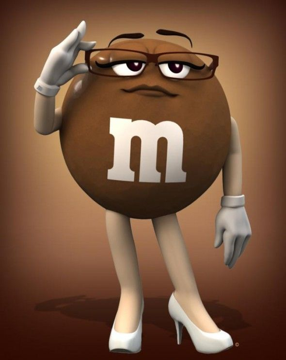 M&m clipart brown M&M's character their 66 Pinterest