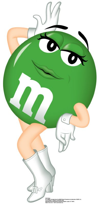 M&m clipart green M characters M M's &