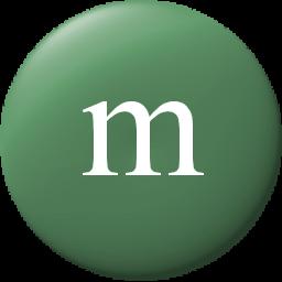 M&m clipart green Edges smooth pixels Green 256x256