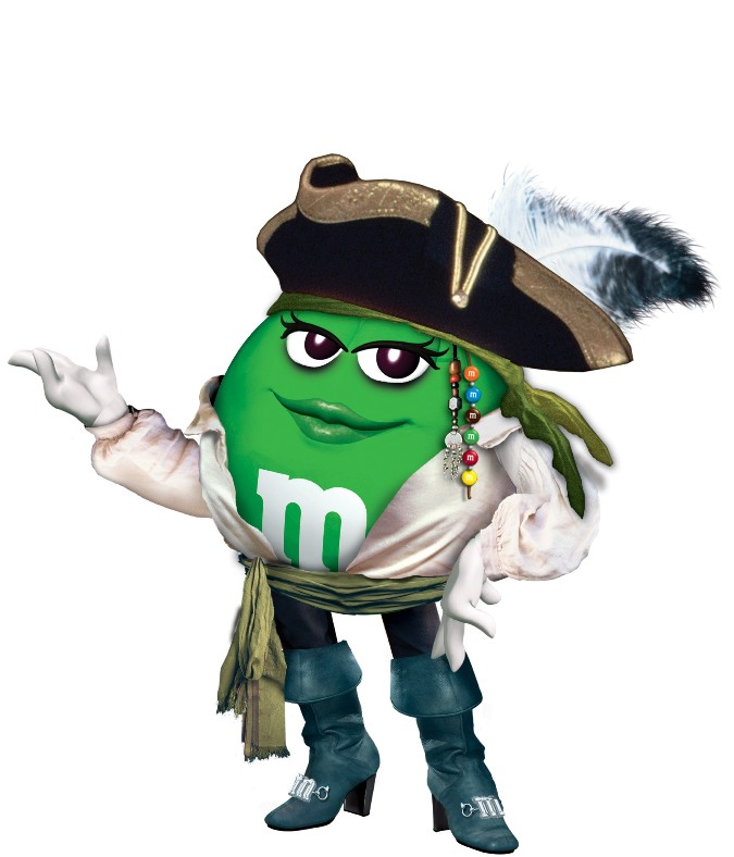 M&m clipart halloween Pirate M&M later dressed green