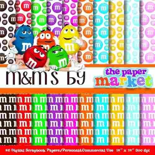 M&m clipart pack Clipart Fondos Imprimible Libre Fondos
