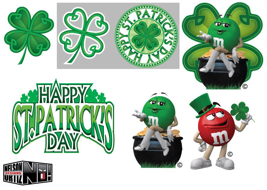 M&m's clipart Featuring for St Behance on