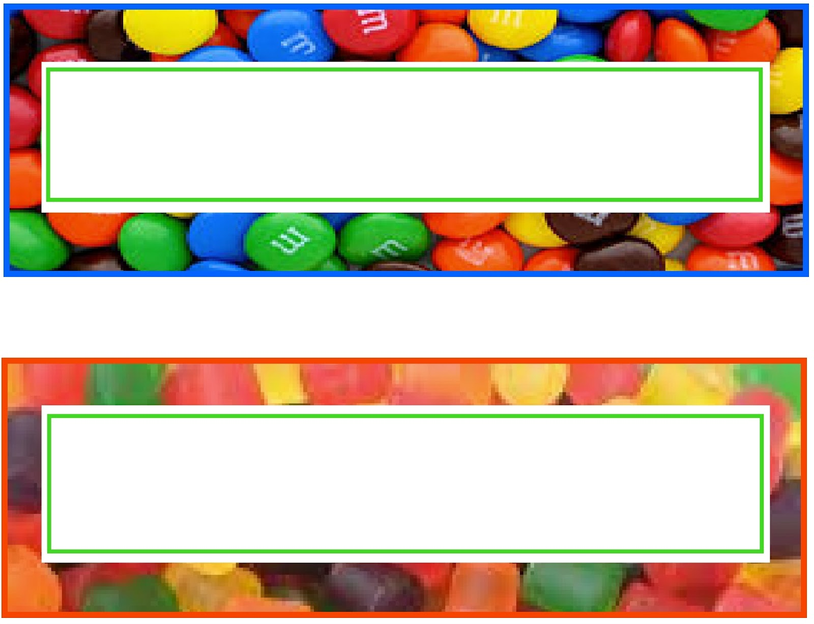 M&m's clipart border Machines get two year that