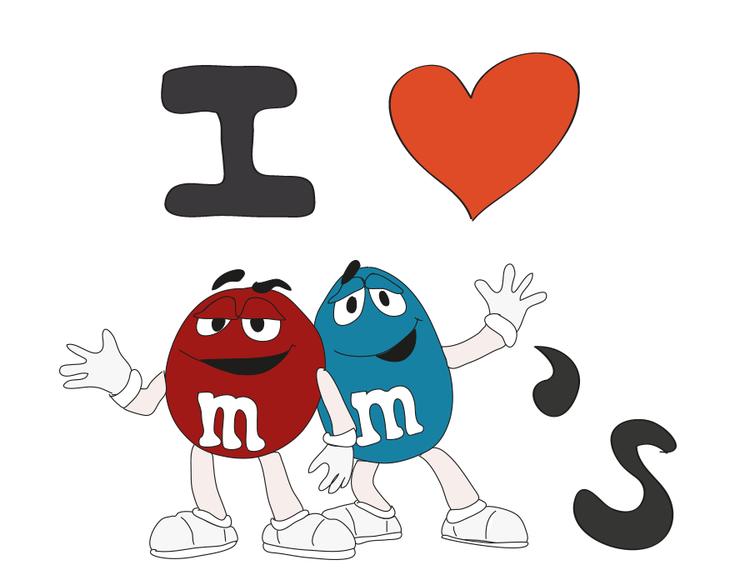 M&m's clipart love Love m&m's I for I