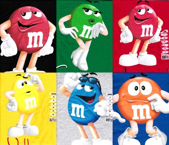 M&m's clipart mars Blue and Details T Shirts