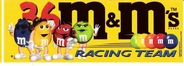 M&m's clipart racing 5 9 inch (1999) inch