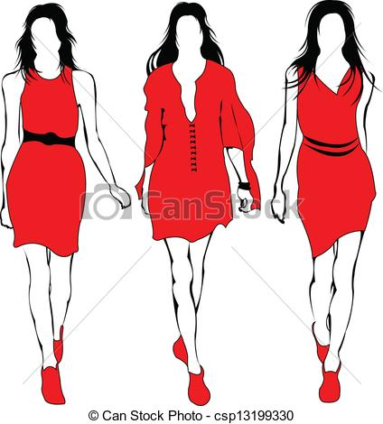 Model clipart Red in models Fashion Model