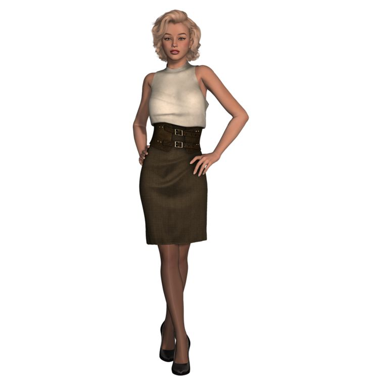 Model clipart cocktail dress #4