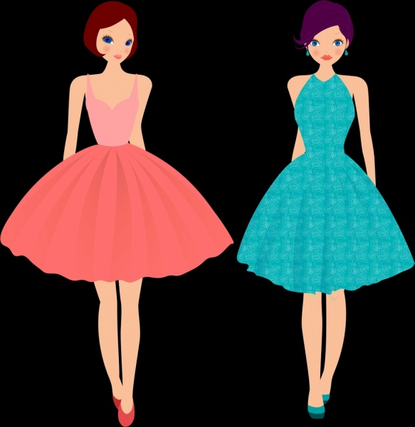 Model clipart cocktail dress #2