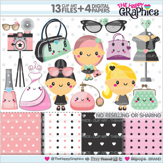 Model clipart fashion accessory Graphics 80%OFF Fashion TheHappyGraphics Party