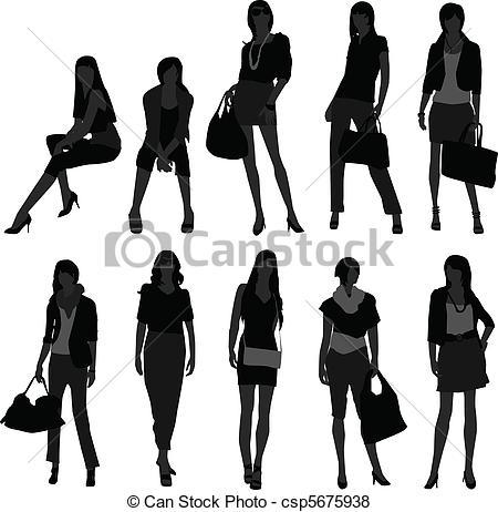 Shopping Model in Woman Model