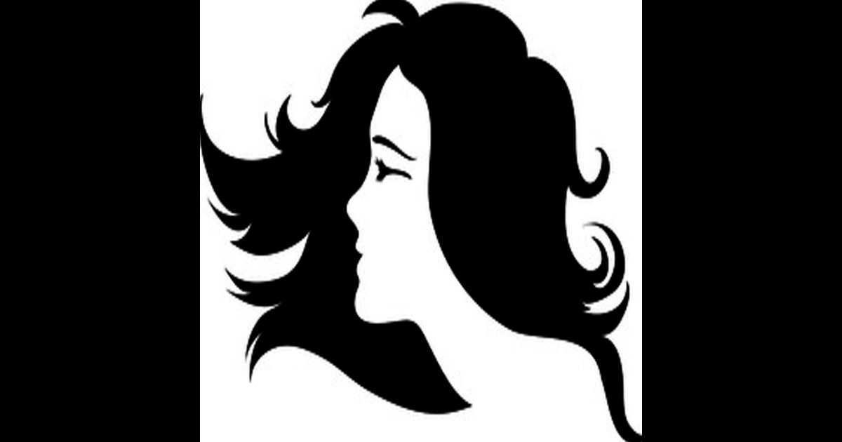 Model clipart just hair #7