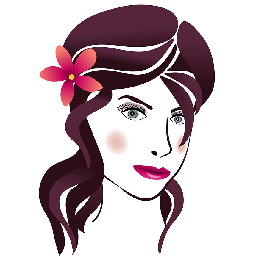 Beautiful clipart beauty salon Hair Art Clip Png