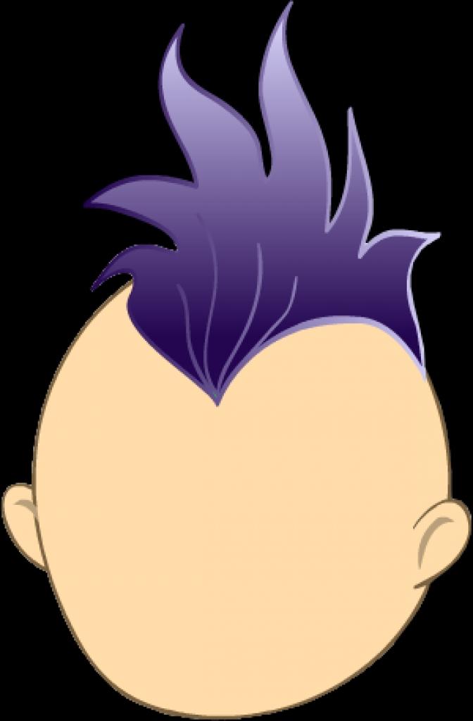 Mohawk clipart spiky hair Mohawk  clipart of hair