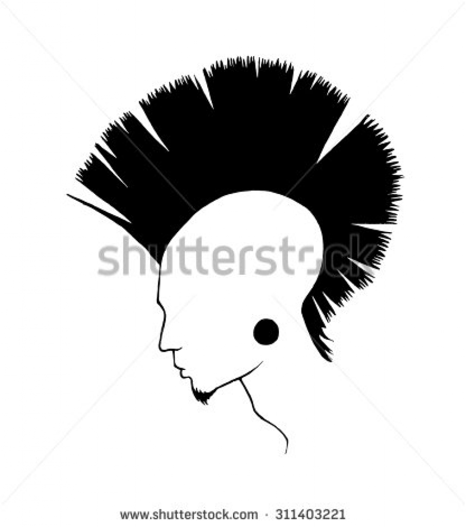 Mohawk clipart spiky hair 470 on clipart pictures hair