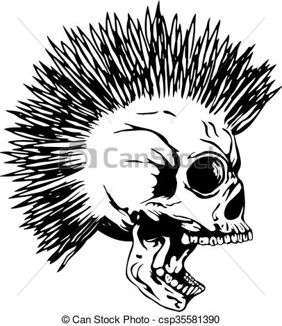 Mohawk clipart Vector Illustration punk Vector punk