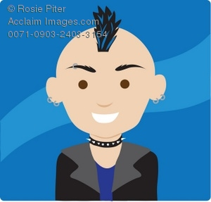 Mohawk clipart With a Mohawk Clipart Illustration