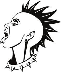 Mohawk clipart spiky hair Mohawks mohawk art Images Pinterest