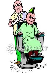Mohawk clipart barber #7