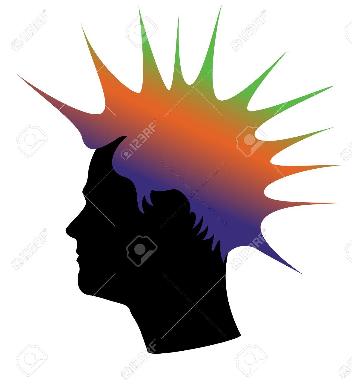 Mohawk clipart spiky hair  Mohawk Hair Clipart